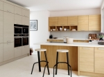 Light Oak Painted Modern Kitchen